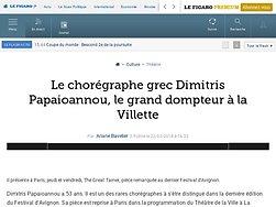 Le chorégraphe grec Dimitris Papaioannou, le grand dompteur à la Villette