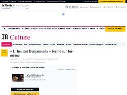 «L'Institut Benjamenta» fermé sur lui-même