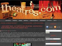 « War Sweet War » au Théâtre des Célestins : Un spectacle hors-normes signé Jean Lambert-wild