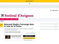 Raimund Hoghe s'immerge dans la voix de la Callas