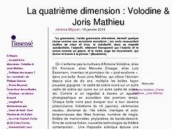 La quatrième dimension : Volodine & Joris Mathieu