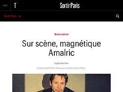 Sur scène, magnétique Amalric