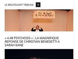 «4.48 Psychosis» :LA magnifique réponse de C. Benedetti à S. Kane