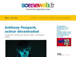 Anthony Poupard, acteur décentralisé