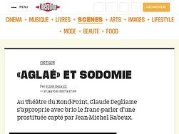 """""""Aglaé"""" et sodomie"""