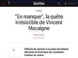 """""""En manque"""", la quête irrésistible de Vincent Macaigne"""