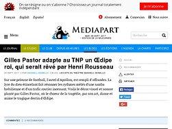 Gilles Pastor adapte au TNP un Œdipe roi, qui serait rêvé par Henri Rousseau