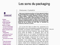 Les sons du packaging