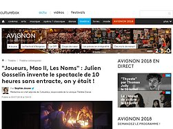 """""""Joueurs, Mao II, Les Noms"""" : Julien Gosselin invente le spectacle de 10 heures sans entracte, on y était !"""
