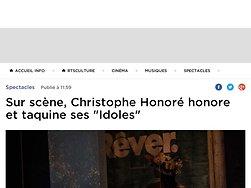 """Sur scène, Christophe Honoré honore et taquine ses """"Idoles"""""""
