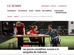 Les jeunes comédiens suisses à la conquête de Lisbonne