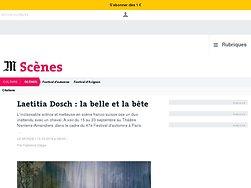 Laetitia Dosch: la belle et la bête