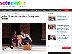 Julien Sibre dépoussière Guitry avec malice