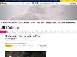 """""""La Mouette"""" survole enfin la Cour d'honneur"""