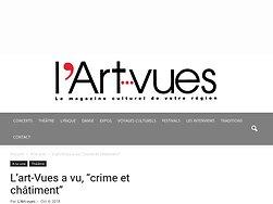 """L'Art-Vues a vu, """"Crime et Châtiment"""""""