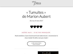 « Tumultes » de Marion Aubert