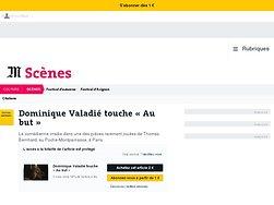Dominique Valadié touche «Au but»