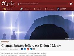 Chantal Santon-Jeffery est Didon à Massy -