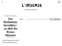 """Les radiations invisibles : """"20 mSv"""" de Bruno Meyssat"""