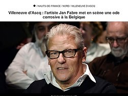 Villeneuve d'Ascq : l'artiste Jan Fabre met en scène une ode corrosive à la Belgique