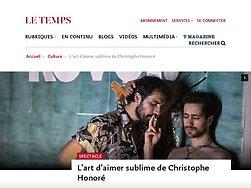 L'art d'aimer sublime de Christophe Honoré
