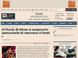 Al Piccolo di Milano la trasgressiva spettacolarità di «Imitation of Death»