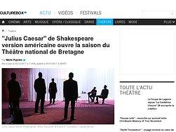 """""""Julius Caesar"""" de Shakespeare version américaine ouvre la saison du Théâtre national de Bretagne"""
