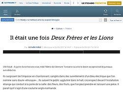 """""""Deux Frères et les Lions"""" : à rugir de plaisir"""