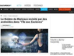 """Le théâtre de Marivaux revisité par des androïdes dans """"l'Île aux Esclaves"""""""