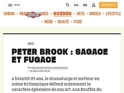 Peter Brook : sagace etfugace