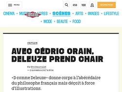 Avec Cédric Orain, Deleuze prend chair