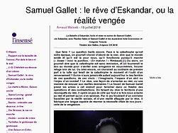 Le rêve d'Eskandar, ou la réalité vengée