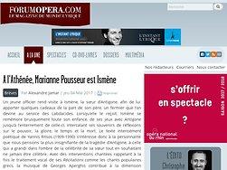 A l'Athénée, Marianne Pousseur est Ismène