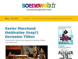 Xavier Marchand théâtralise (trop?) Germaine Tillion