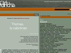 Thomas, tu cabotines