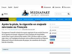 Après la pluie, la cigarette en majesté névrosée au Français