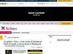 La pièce «Iris», avec scène d'attentat et fusil d'assaut, a pu se jouer à Montreuil