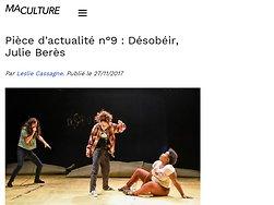 """Pièce d'actualité n°9 : """"Désobéir"""""""