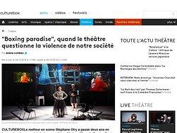 """""""Boxing paradise"""", quand le théâtre questionne la violence de notre société"""