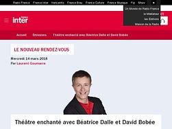Théâtre enchanté avec Béatrice Dalle et David Bobée