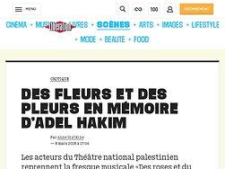 Des fleurs et des pleurs en mémoire d'Adel Hakim