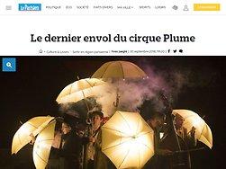 Le dernier envol du cirque Plume