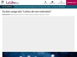 """Du bon usage des """"Lettres de non-motivation"""""""