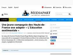 Une jeune compagnie des Hauts-de-France ose adapter «L'Education sentimentale »