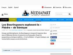 Les Bourlingueurs explosent la « Phèdre » de Sénèque