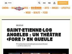 Saint-Etienne-Los Angeles : unthéâtre «Fore !» engueule