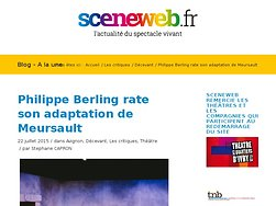 Philippe Berling rate son adaptation de Meursault