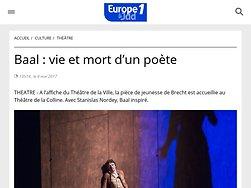 Baal : vie et mort d'un poète