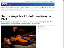 Sainte Angélica Liddell, martyre de l'art