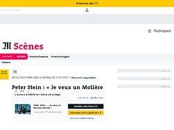 Peter Stein: «Je veux un Molière réaliste»